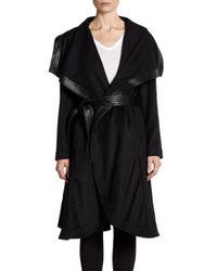 Badgley Mischka - Black Madison Belted Draped Jacket - Lyst