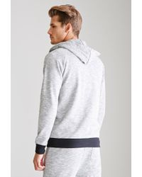 Forever 21 - Gray Slub Knit Hoodie for Men - Lyst
