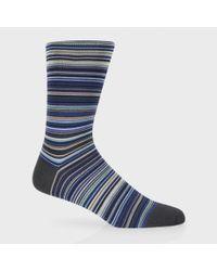 Paul Smith - Sky Blue Signature Stripe Socks for Men - Lyst