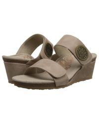 Aetrex - Gray Marilyn Wedge Sandal - Lyst