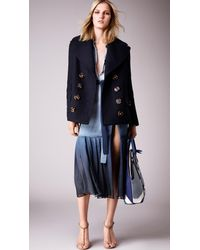 Burberry - Blue Dégradé Silk Wrap Dress - Lyst