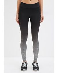 Forever 21 | Black Active Ombre Chevron Leggings You've Been Added To The Waitlist | Lyst