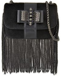 Christian Louboutin | Black Sweety Charity Fringes | Lyst