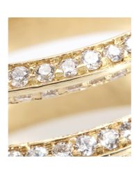 Ileana Makri - Metallic 18kt Yellow Gold Triple Disc Ring With White Diamonds - Lyst