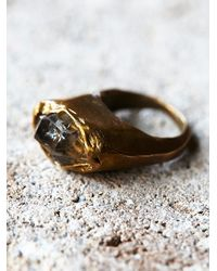 Free People | Metallic Earthling Womens Crystal Visions Ring | Lyst
