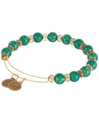 ALEX AND ANI | Green Sour Apple Carousel Beaded Bangle | Lyst