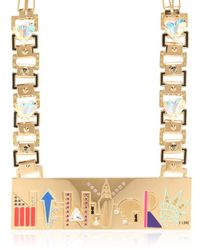 Maria Francesca Pepe | Metallic City Skyline Necklace | Lyst