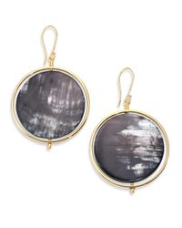 Nest | Metallic Horn Disc Statement Drop Earrings | Lyst
