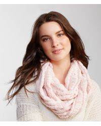Aéropostale | Pink Marled Drop-stitch Infinity Scarf | Lyst