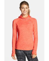 Nike | Orange 'element' Dri-fit Running Hoodie | Lyst
