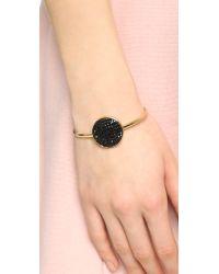 Marc By Marc Jacobs - Black Pave Disc Hinge Cuff Bracelet - Lyst