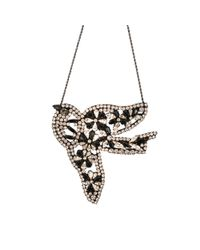 Shourouk | Metallic Vintage Bird Flower | Lyst