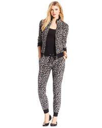 Michael Kors | Multicolor Michael Leopard-print Zip-front Active Jacket | Lyst