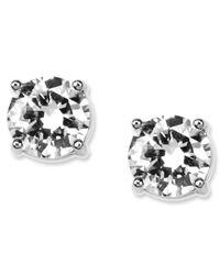 Givenchy - Metallic Round Crystal Stud - Lyst