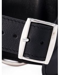 Raf Simons - Black Leather Cuff for Men - Lyst
