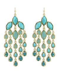 Kendra Scott | Blue Freesia Chandelier Earrings | Lyst