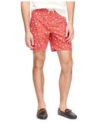 "Brooks Brothers - Red 8"" Nautical Board Shorts for Men - Lyst"