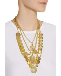 Kenneth Jay Lane - Metallic Goldplated Coin Necklace - Lyst