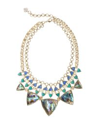 Kendra Scott - Metallic Emily Oasis Statement Necklace - Lyst