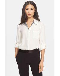 Diane von Furstenberg - White 'Lorelei' Silk Shirt - Lyst