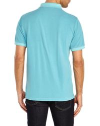 Stone Island - Blue Logo Patch Polo for Men - Lyst