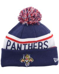 KTZ - Blue Florida Panthers Biggest Fan Pom Knit Hat for Men - Lyst