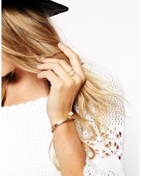 ASOS | Metallic Shard Hand Harness | Lyst