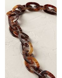 Anthropologie - Brown Linked Tortoiseshell Necklace - Lyst