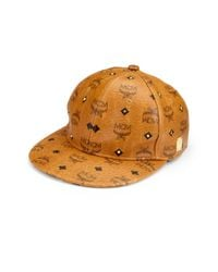 MCM | Brown Visetos Logo Cap for Men | Lyst