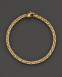 Roberto Coin | Metallic 18k Yellow Gold Small Link Bracelet - Bloomingdale's Exclusive | Lyst