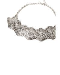 Forever 21 | Metallic Southwestern Etched Pendant Choker | Lyst