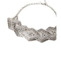 Forever 21 - Metallic Southwestern Etched Pendant Choker - Lyst