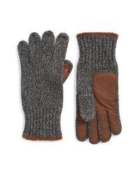 Polo Ralph Lauren - Gray Ragg Wool Knit Gloves for Men - Lyst