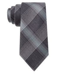William Rast | Gray Silk-Blend Plaid Tie for Men | Lyst