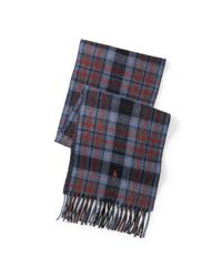 Polo Ralph Lauren - Green Reversible Plaid Wool Scarf for Men - Lyst