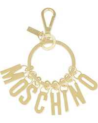 Moschino | Metallic Logo Key Ring - For Women for Men | Lyst