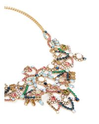 J.Crew - Multicolor Crystal Lace Necklace - Lyst