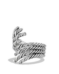 David Yurman | Metallic Willow Open Four-row Ring With Diamonds | Lyst