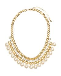 H&M - White Short Necklace - Lyst