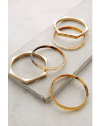 Anthropologie | Metallic Honeycomb Horn Bracelet Set | Lyst