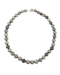 Belpearl | Multicolor 14k Mixed Tahitian Pearl Necklace | Lyst