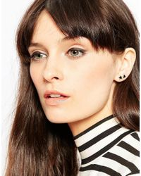 ASOS | Black Pack Of 2 Tiny Shapes Stud Earrings | Lyst