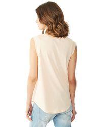 Alternative Apparel   Pink Cap Sleeve Crew T-Shirt   Lyst