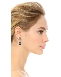 Miguel Ases - Aqua Earrings Blue - Lyst