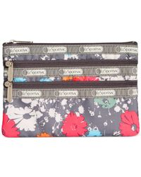LeSportsac - Gray Everyday Cosmetic Case - Lyst