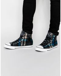 Converse | Red All Star Woolrich Hi Top Plimsolls for Men | Lyst