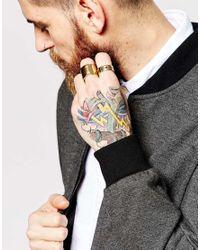 ASOS | Metallic Arrow Ring Pack for Men | Lyst