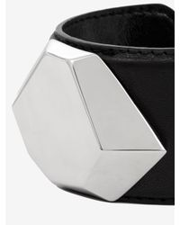 McQ - Gray Stone Leather Cuff - Lyst