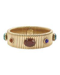 Gas Bijoux | Metallic Multi Cabochon Snake Coil Bracelet | Lyst