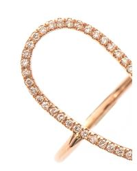 Diane Kordas | Pink Diamond & Rose-Gold Floating Ring | Lyst